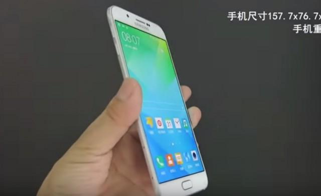 Первое видео с Galaxy A8