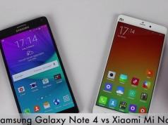 Galaxy Note 4 vs Xiaomi Mi Note Pro