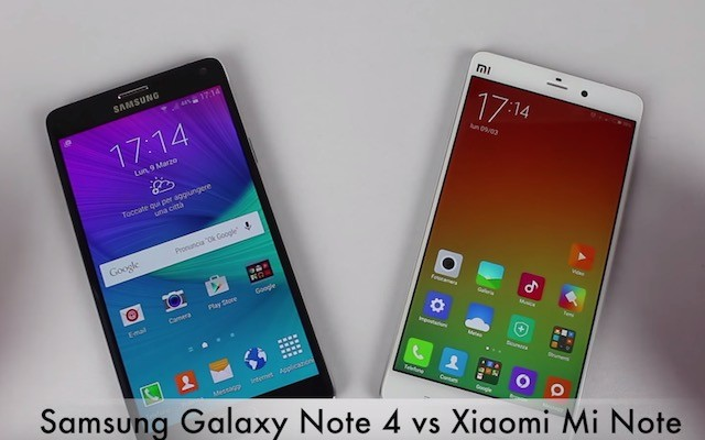 Galaxy Note 4 vs Xiaomi Mi Note Pro