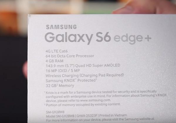 Технические характеристики Samsung Galaxy S6 Edge Plus