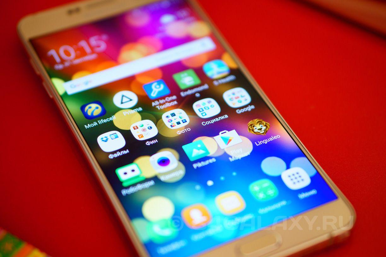 Внешний вид Samsung Galaxy Note 5 - дисплей