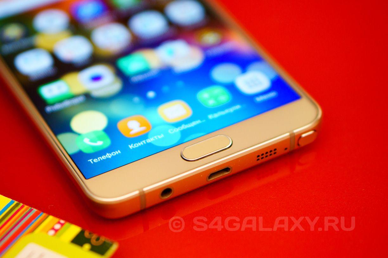 Samsung Galaxy Note 5 в золотом цвете