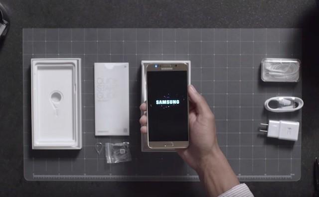 Распаковка Samsung Galaxy Note 5