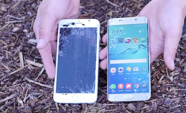 Дроп тест Samsung Galaxy S6 Edge+ VS iPhone 6 Plus