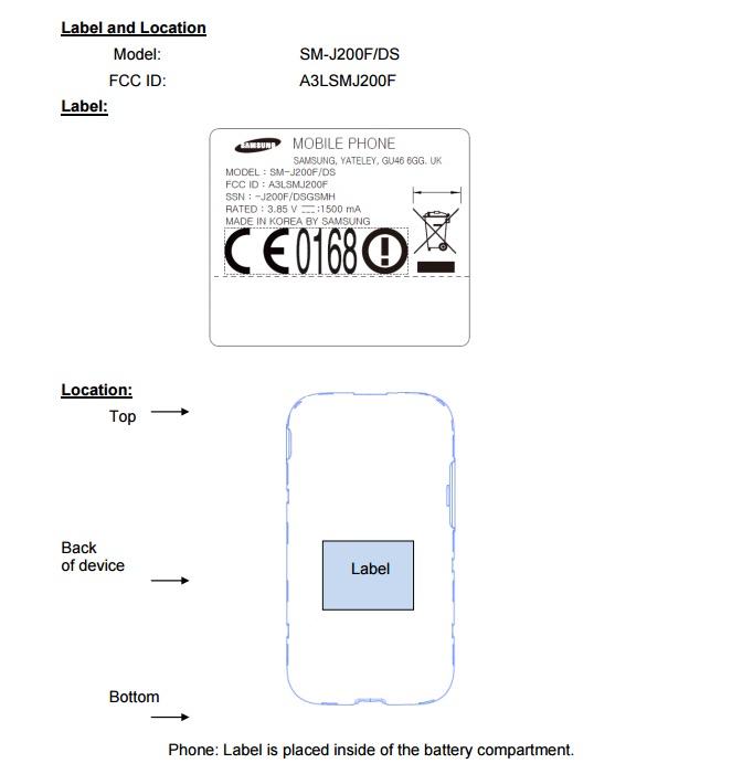 Смартфон Samsung Galaxy J2 прошел сертификацию