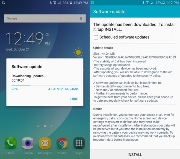 Новая прошивка N920IDVU2AOJ4 для Галакси Нот 5