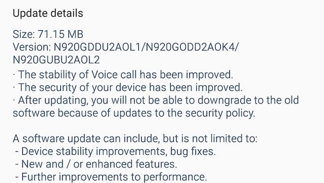 Новая прошивка для Galaxy Note 5 доступна в сети