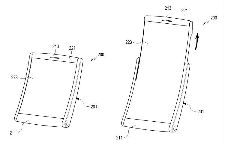 Компания Samsung предлагает оснащать смартфоны вытягивающимся дисплеем