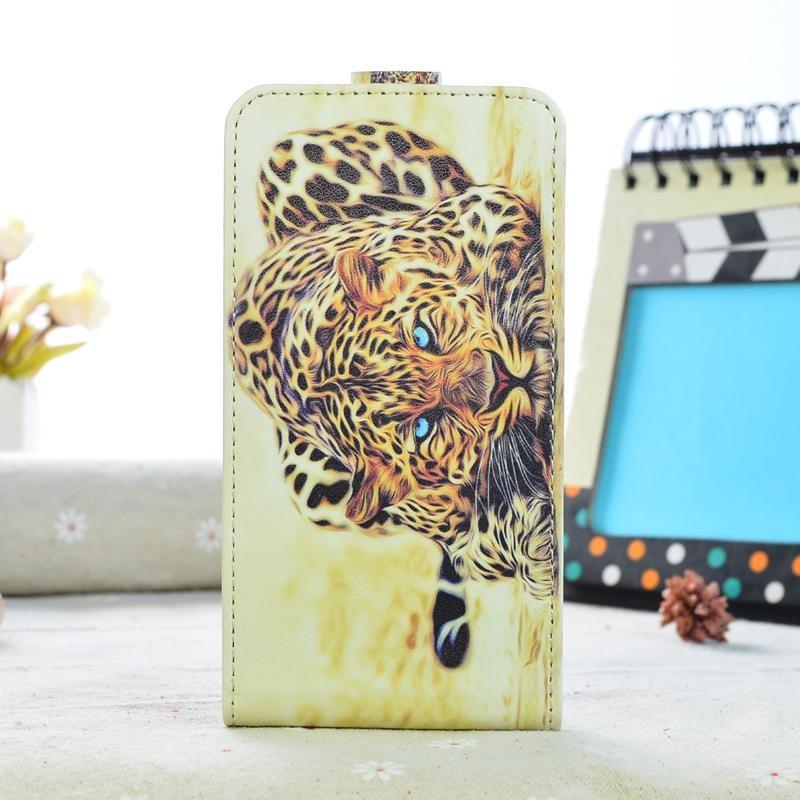 Кожаный чехол для Samsung Galaxy J5 2016 J510 - с тигром
