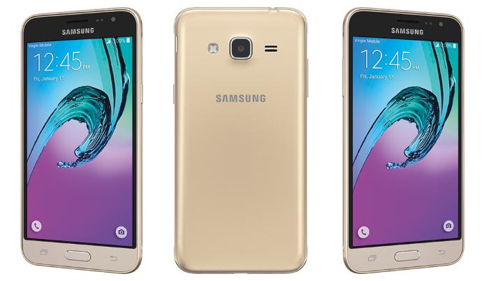 Samsung Galaxy J3 2016 - золото