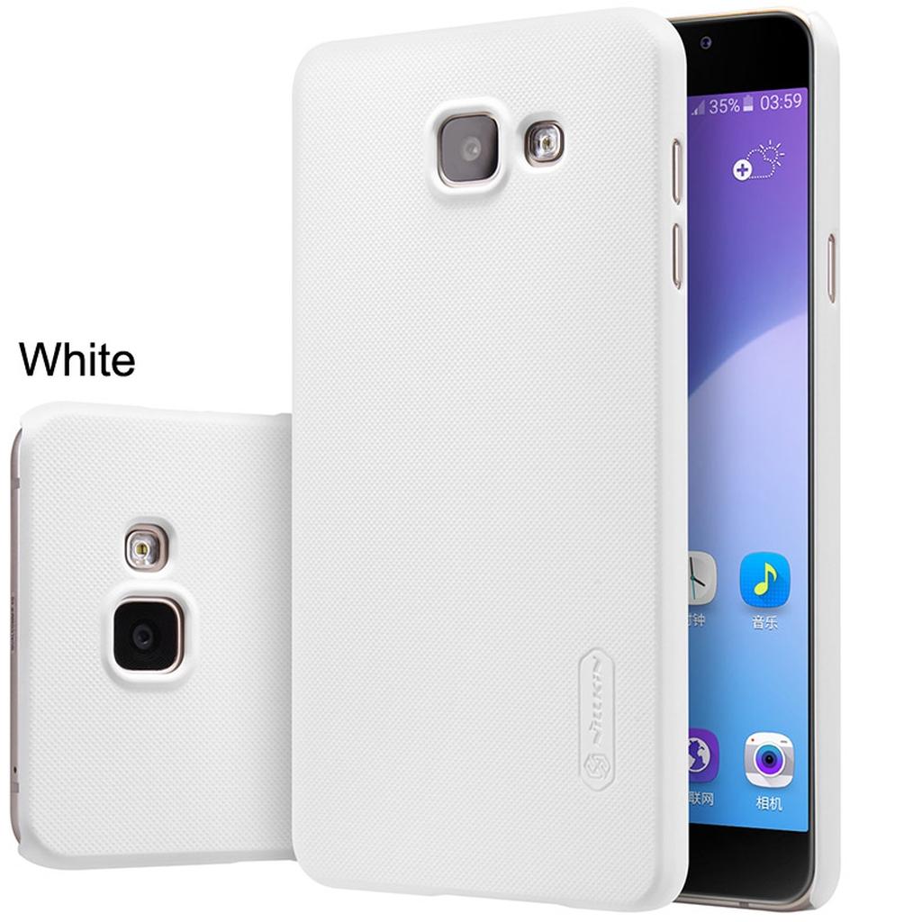Samsung Galaxy в белом чехле с разных сторон