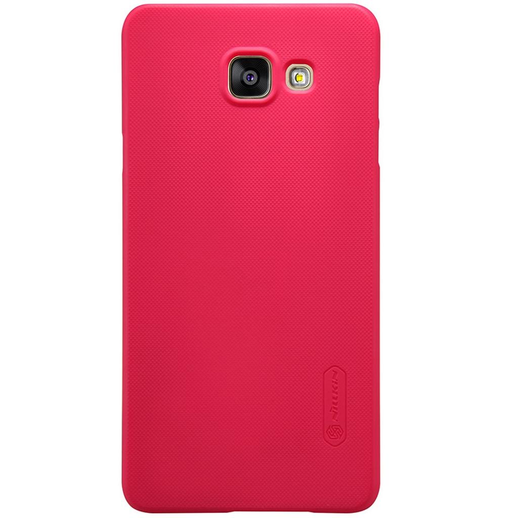 Samsung Galaxy в красном чехле сзадим
