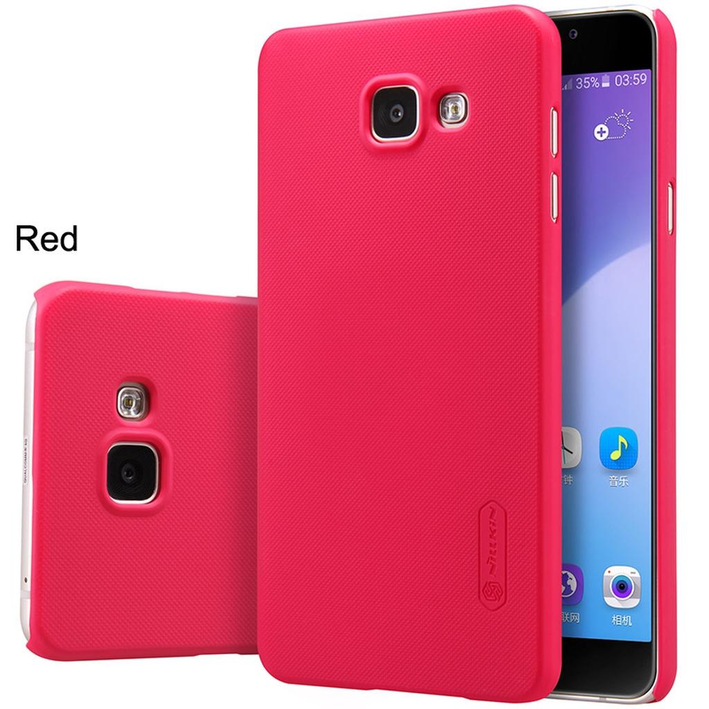 Samsung Galaxy в красном цвете с разных сторон