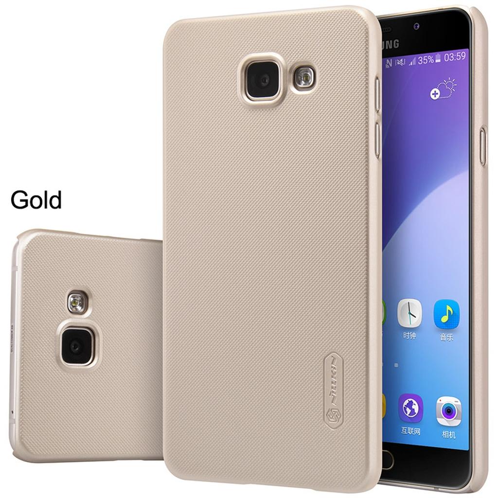 Samsung Galaxy в золотом чехле с разных сторон
