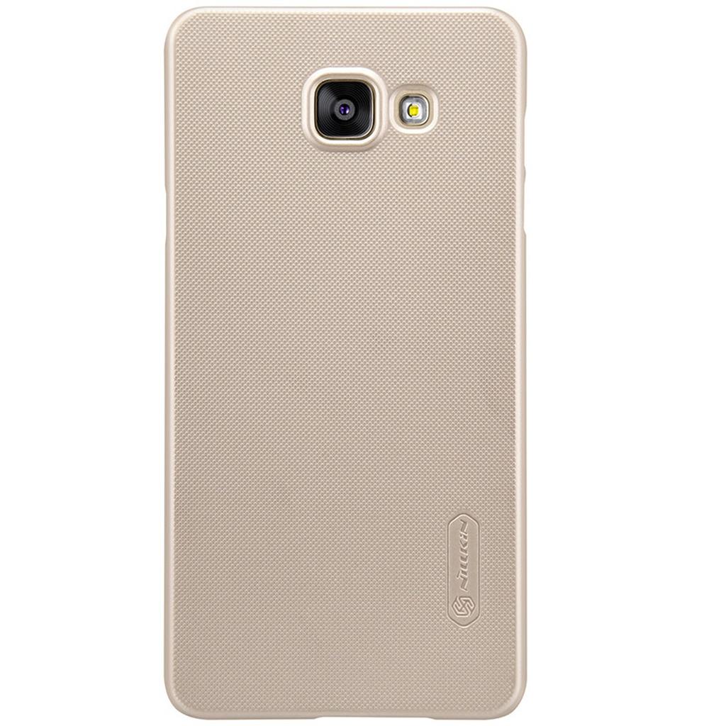 Samsung Galaxy в золотом чехле сзади