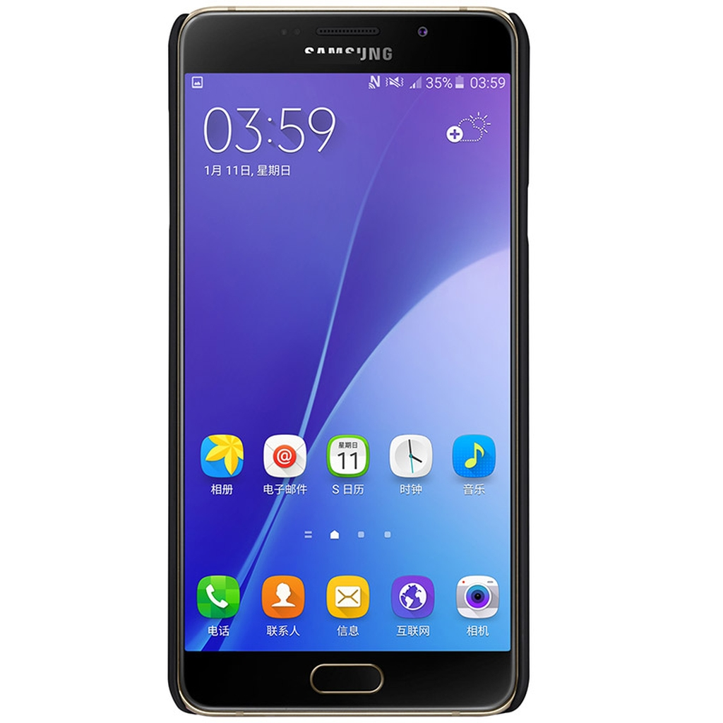 Samsung Galaxy в черном чехле спереди