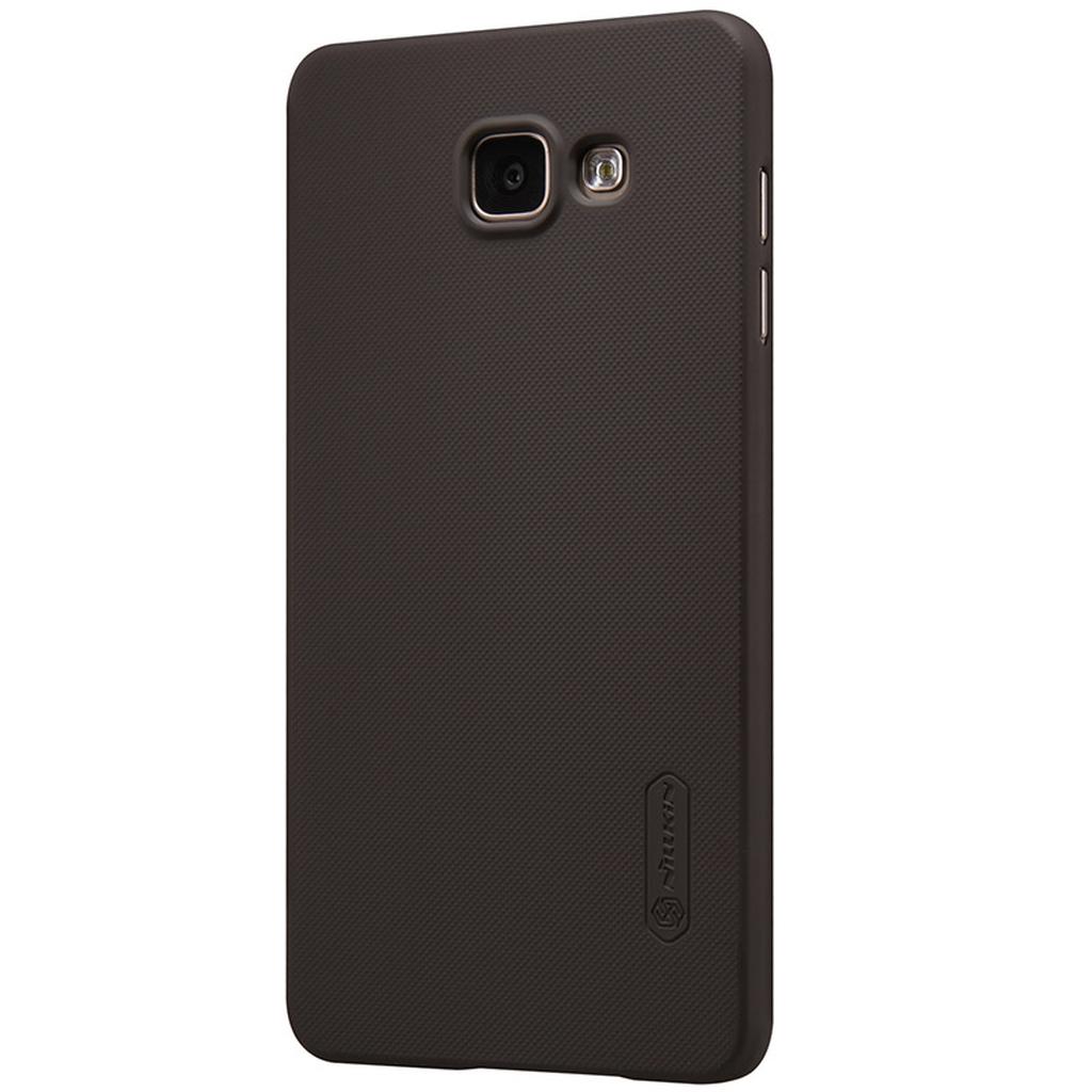 Samsung Galaxy в коричневом чехле сзади