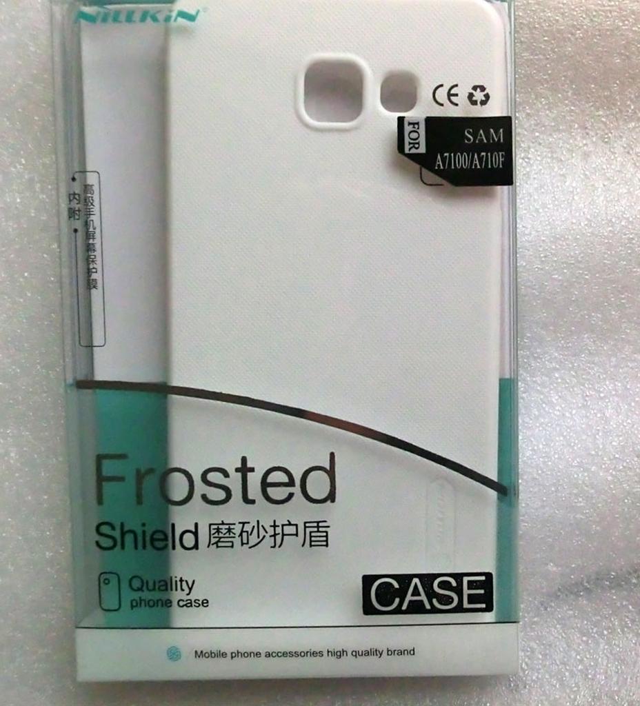 белый чехол для Samsung Galaxy A7 в упаковке