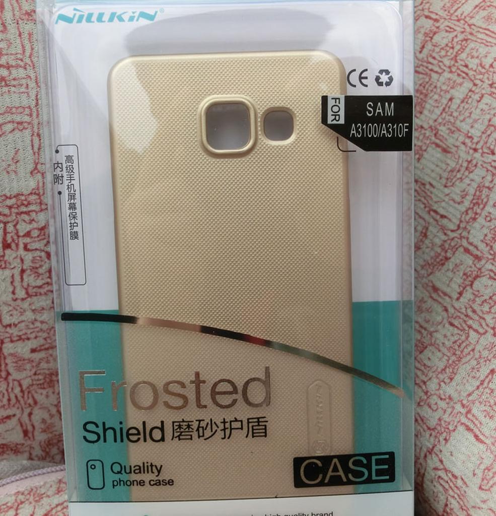 золотой чехол для Samsung Galaxy A7 в упаковке