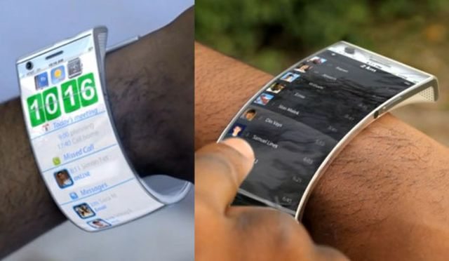Компания Samsung запатентовала гибкий смарт-браслет