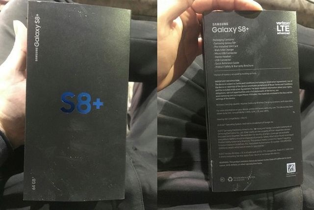 Фото и коробка galaxy s8 в сети
