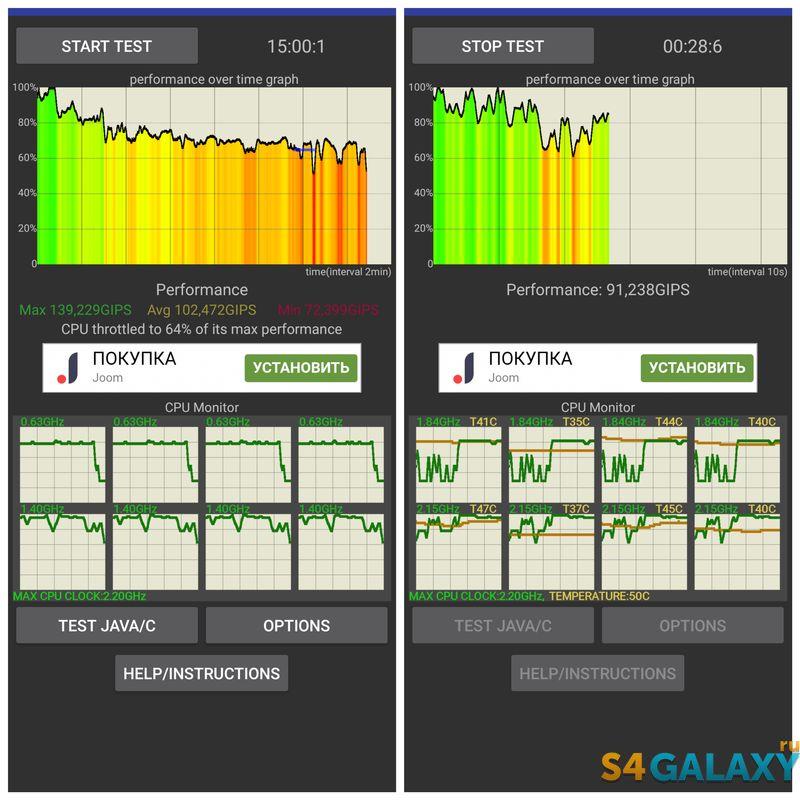 Snapdragon 660 троттлинг тест Redmi Note 7