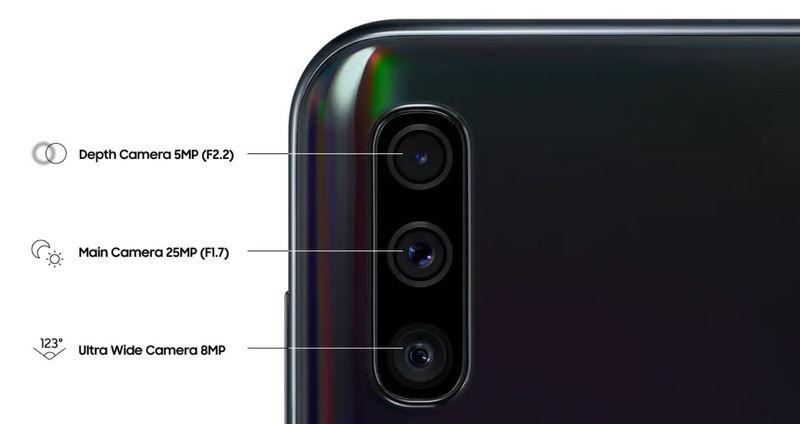 Камеры Samsung Galaxy A50 A505F