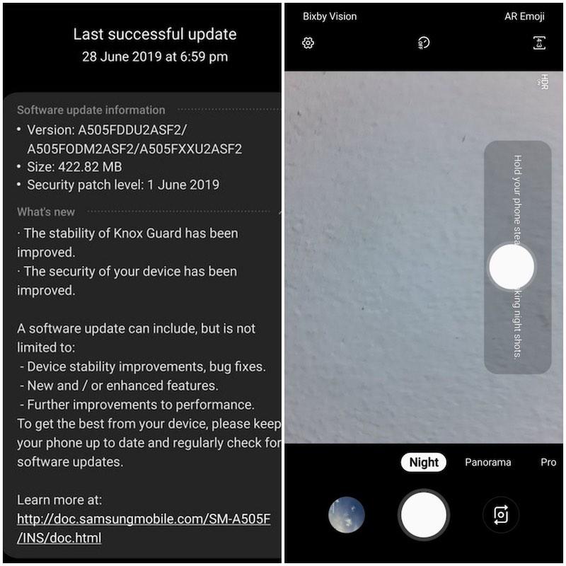 Камера Galaxy A50 получит Ночной Режим и Супер Слоу-Мо