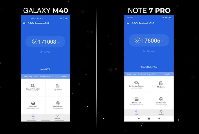Samsung Galaxy M40 AnTuTu
