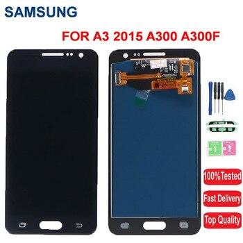 Super AMOLED экран для Samsung Galaxy A3 2015 LCD A300 A300F A300M A300X A300H A300FU A300N LCD Touch Display Screen Digitizer Assembly